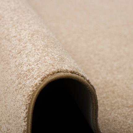 Karo Patchwork Teppich grau blau Velours umkettelt 370x400 cm Teppichboden