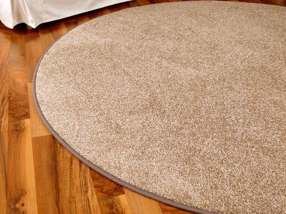 Hochflor Velours Teppich Triumph Beige Rund in 7 Größen online kaufen