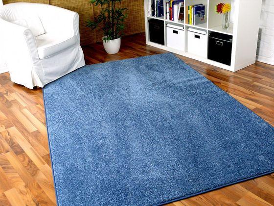 Hochflor Velours Teppich Triumph Blau in 24 Größen