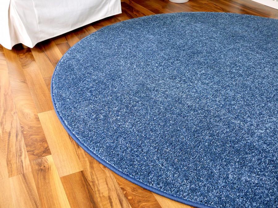 hochflor velours teppich triumph blau rund in 7 gr en ebay. Black Bedroom Furniture Sets. Home Design Ideas