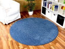 Hochflor Velours Teppich Triumph Blau Rund in 7 Größen online kaufen