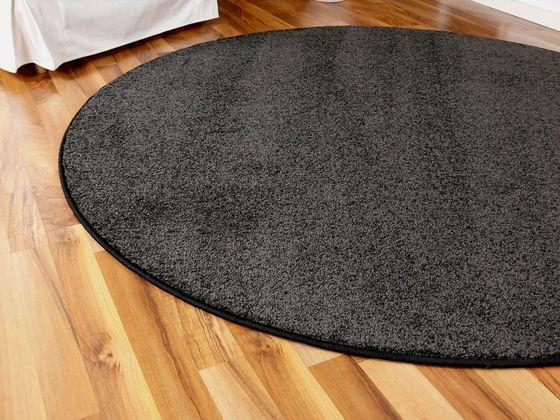 Hochflor Velours Teppich Triumph Anthrazit Rund in 7 Größen online kaufen