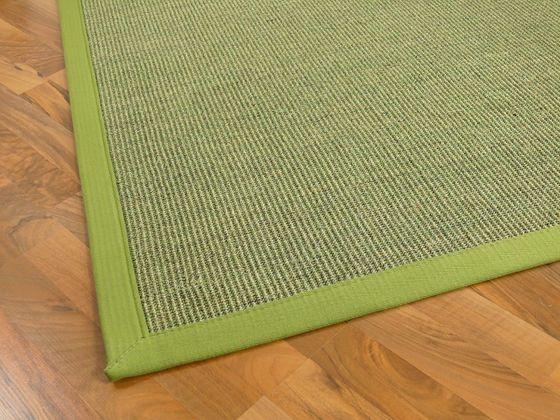 Sisal Astra Natur Teppich Grün Bordüre Grün online kaufen