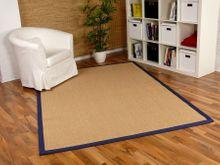 Sisal Astra Natur Teppich Honig Bordüre Blau online kaufen