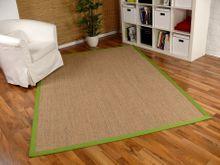 Sisal Astra Natur Teppich Nuss Bordüre Grün online kaufen