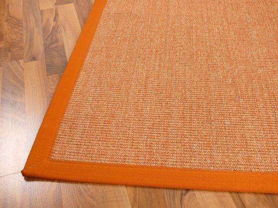 Sisal Astra Natur Teppich Orange Bordüre Orange online kaufen