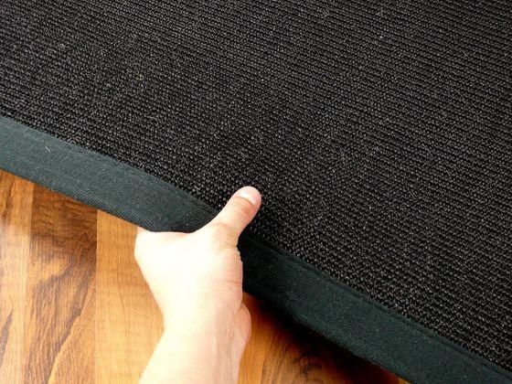 Sisal Astra Natur Teppich Schwarz Bordüre Schwarz in 12 Größen online kaufen