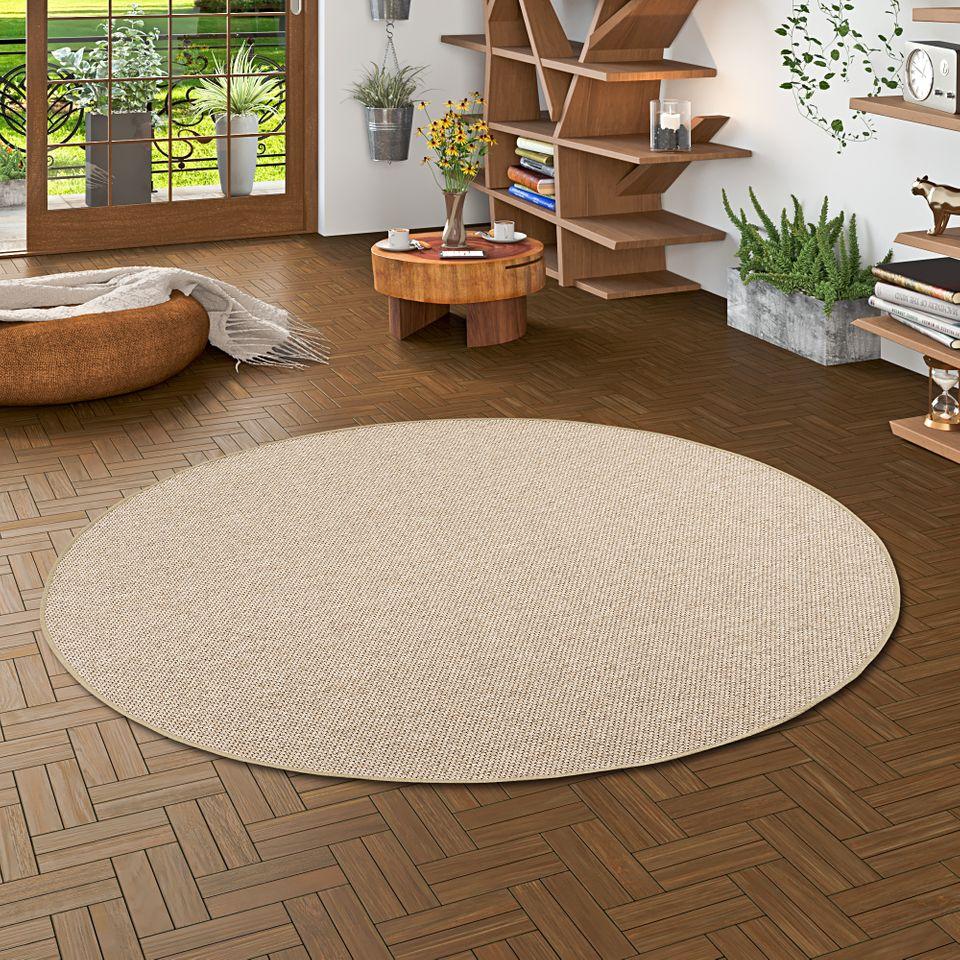 teppich bentzon flachgewebe braun rund teppiche sisal und. Black Bedroom Furniture Sets. Home Design Ideas