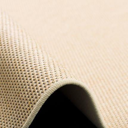 Teppich Bentzon Flachgewebe Beige Rund online kaufen