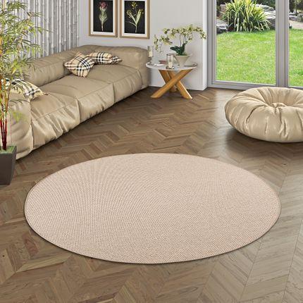 Teppich Bentzon Flachgewebe Karamell Rund online kaufen