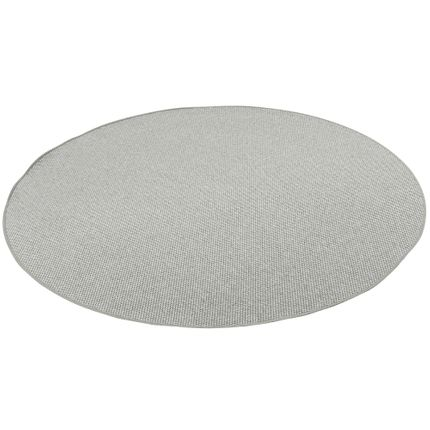 Teppich Bentzon Flachgewebe Silber Rund online kaufen