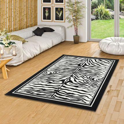 Teppich Modern Trendline Schwarz Weiss Zebra