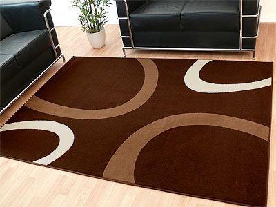 Teppich Modern Trendline Beige Braun Kreise online kaufen