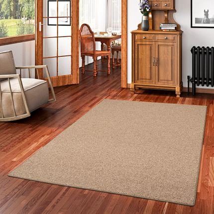 Natur Teppich Wolle Berber Braun