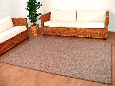 Natur Wolle Teppich Berber Malta Braun in 24 Größen online kaufen