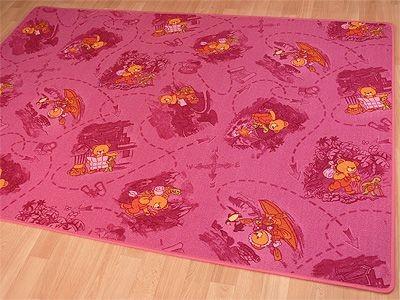 Kinder Spiel Teppich Rosa Bär