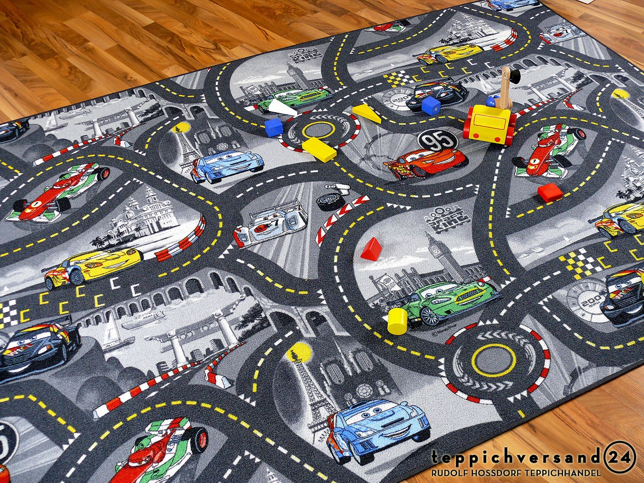 Kinder Spielteppich Disney Cars Grau in 24 Größen Teppiche Kinder ...