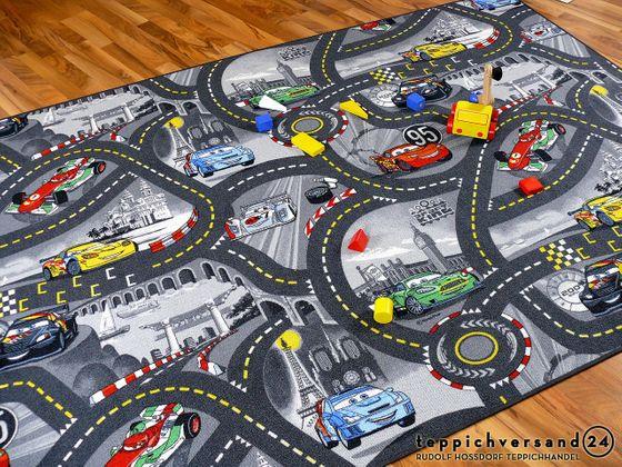 Spiel Kinderteppich Disney Cars Grau online kaufen