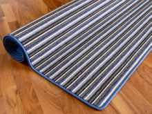 Streifenberber Teppich Blau Stripes  online kaufen
