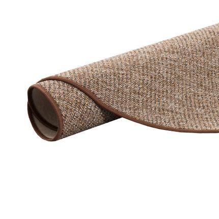 Schlingen Velour Teppich Primo Braun Rund in 7 Größen online kaufen