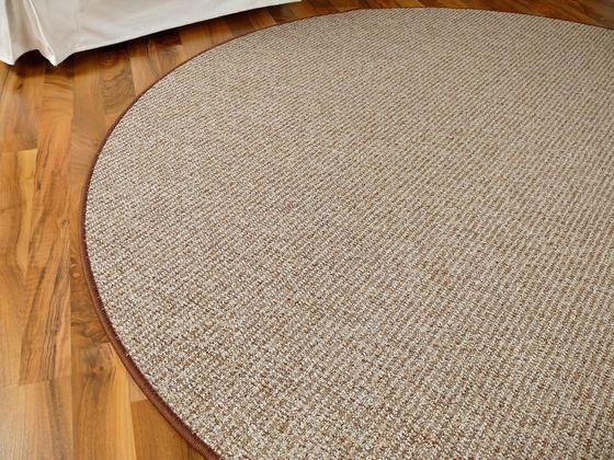 Schlingen Velour Teppich Primo Karamell Rund in 7 Größen online kaufen