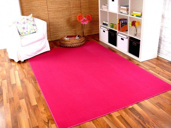 Basic Velours Teppich Carla Pink in 17 Größen