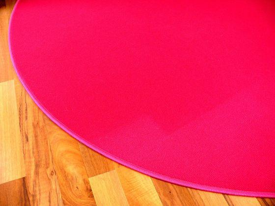 Basic Velours Teppich Carla Pink Rund in 4 Größen online kaufen