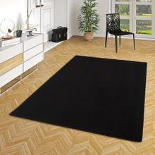 Basic Velours Teppich Carla Schwarz online kaufen
