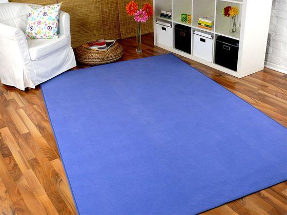 Basic Velours Teppich Carla Blau