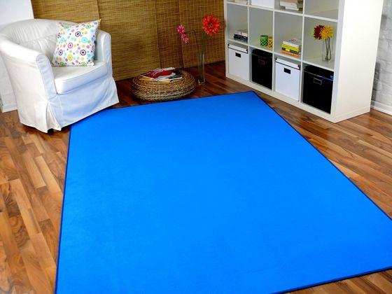 Basic Velours Teppich Carla Azurblau online kaufen
