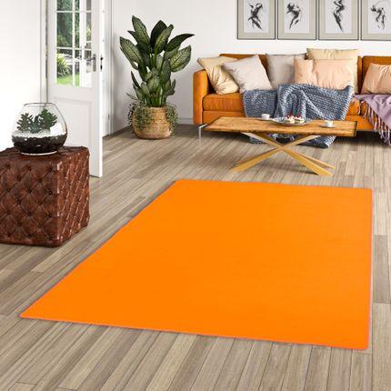 Basic Velours Teppich Carla Orange in 17 Größen