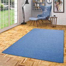 Feinschlingen Velour Teppich Strong Blau online kaufen