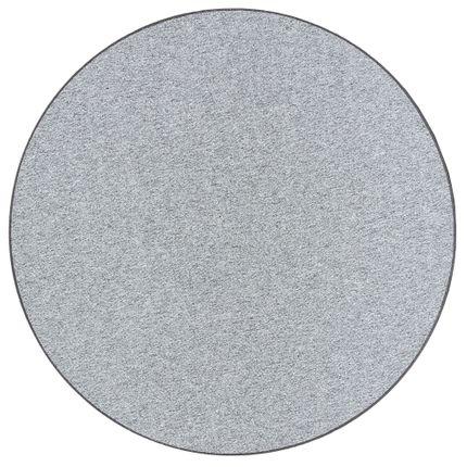 Feinschlingen Velour Teppich Strong Silbergrau Rund online kaufen