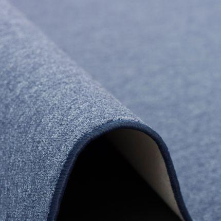 Feinschlingen Velour Teppich Strong Dunkelblau online kaufen