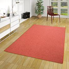 Feinschlingen Velour Teppich Strong Terrakotta online kaufen