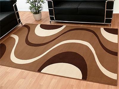 Teppich Modern Trendline Braun Kakao Retro - ABVERKAUF