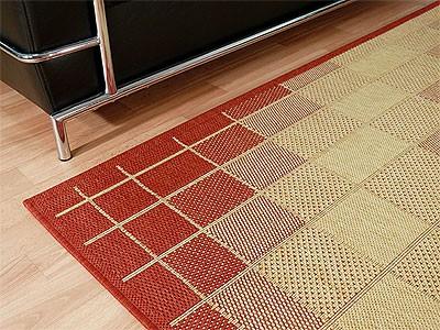 Teppich Flachgewebe Ruggy Rot Beige online kaufen