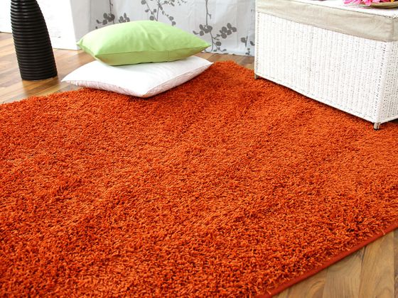 hochflor langflor teppich shaggy nova orange in 24 gr en teppiche hochflor langflor teppiche. Black Bedroom Furniture Sets. Home Design Ideas
