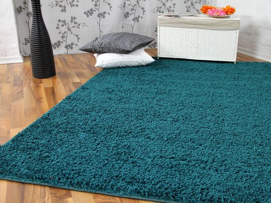 hochflor langflor teppich shaggy nova petrol teppiche hochflor langflor teppiche gr n und blau. Black Bedroom Furniture Sets. Home Design Ideas