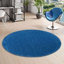 Teppich Hochflor Cottage Blau Rund online kaufen