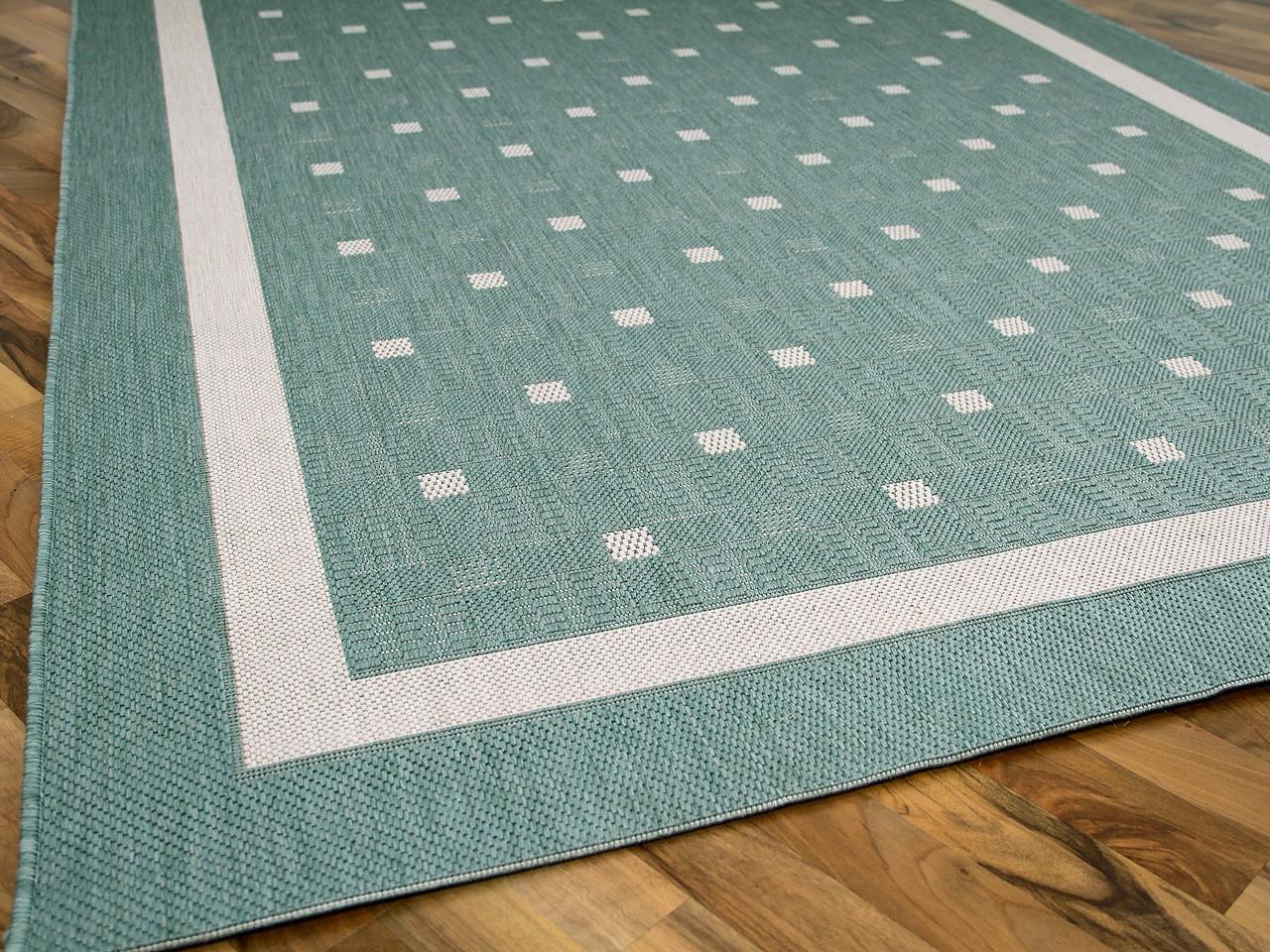 Teppich mintgrün  Modern Flachgewebe Ruggy Mintgrün Bordüre Teppiche Sisal und ...