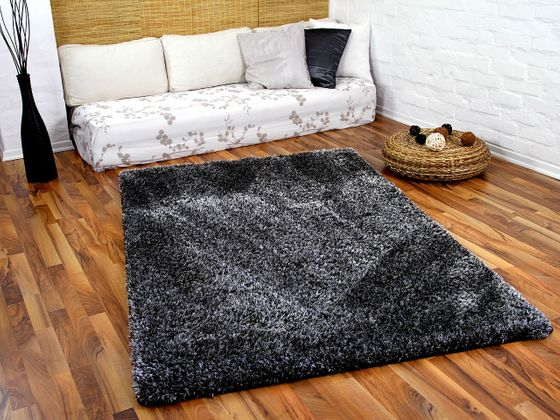 Hochflor Shaggy Teppich Luxus Feeling Mix Anthrazit in 24 Größen online kaufen