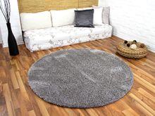 Hochflor Shaggy Teppich Luxus Feeling Mix Silber Rund in 7 Größen online kaufen