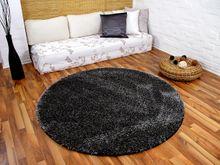 Hochflor Shaggy Teppich Luxus Feeling Mix Anthrazit Rund in 7 Größen online kaufen