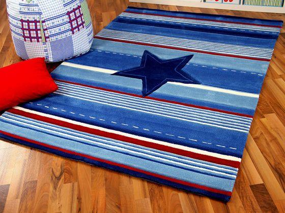 Lifestyle Kinderteppich Blau Stern  online kaufen