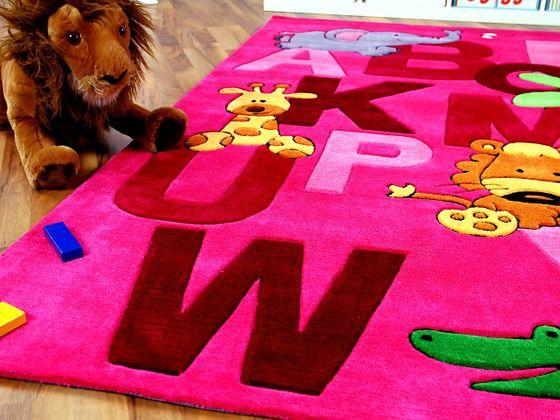 Lifestyle Kinderteppich ABC Pink online kaufen