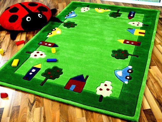 Lifestyle Kinderteppich Spielwelt Grün