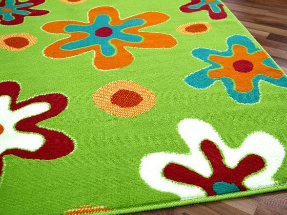 Teppich Modern Trendline Grün Blumen - ABVERKAUF online kaufen
