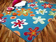 Teppich Modern Trendline Blau Blumen - ABVERKAUF online kaufen