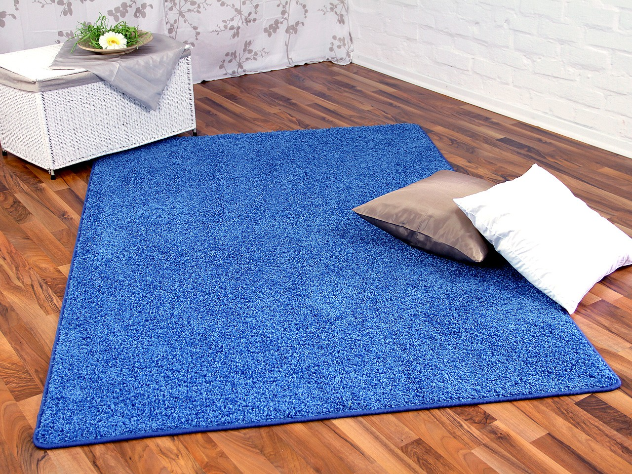 Hochflor Shaggy Teppich Prestige Blau In 24 Grossen Teppiche Hochflor